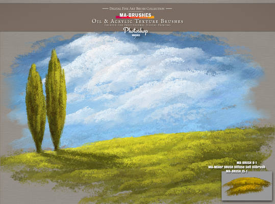 Painterly Aproach Style Brushes for Photoshop - MA