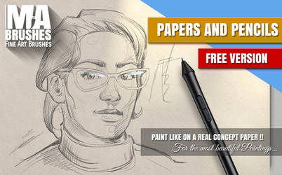 FREE + Real Papers and Pencils Charcoal Brush PACK