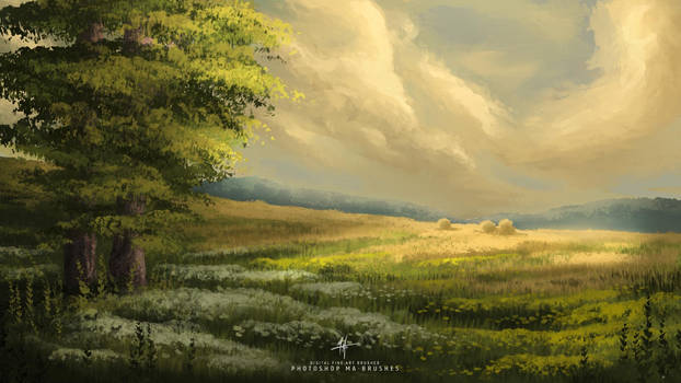 Scenery Digital Art -Digital Oil Painting Brushes
