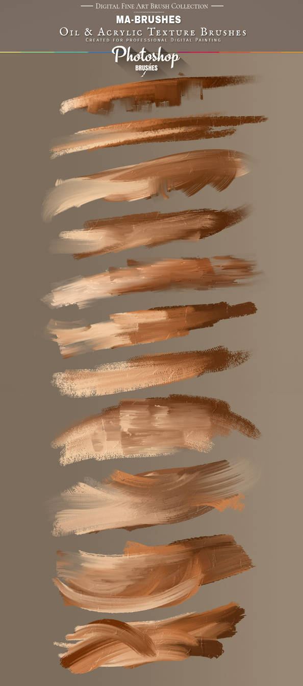 Photoshop Painting Brushes Oil Texture Brush PACK