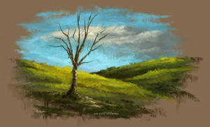 Landscape / Scenery Painting - Photoshop Oil Brush
