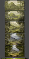 Digital Painting Step by Step Progress -MA-BRUSHES