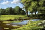 Digital Oil Art (Painterly Landscape) - Stream