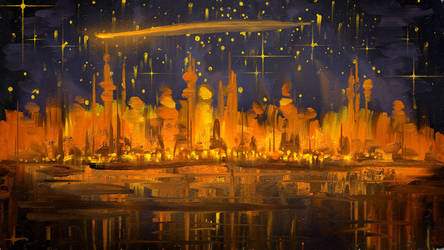 New Year 2021 Digital ART Painting - Winter Stars