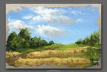 Cornfields - Digital Landscape Art - Oil Artistic