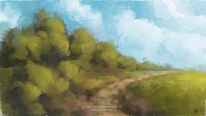 Digital Oil Painting - loose Landscape +MA-Brushes