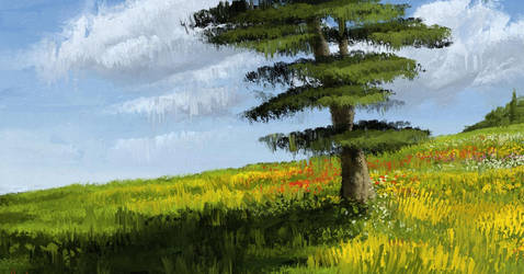 Digital Landscape / Scenery Painting (Nature Wallp