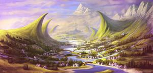 Concept Art Painting Landscape Scenery Artwork