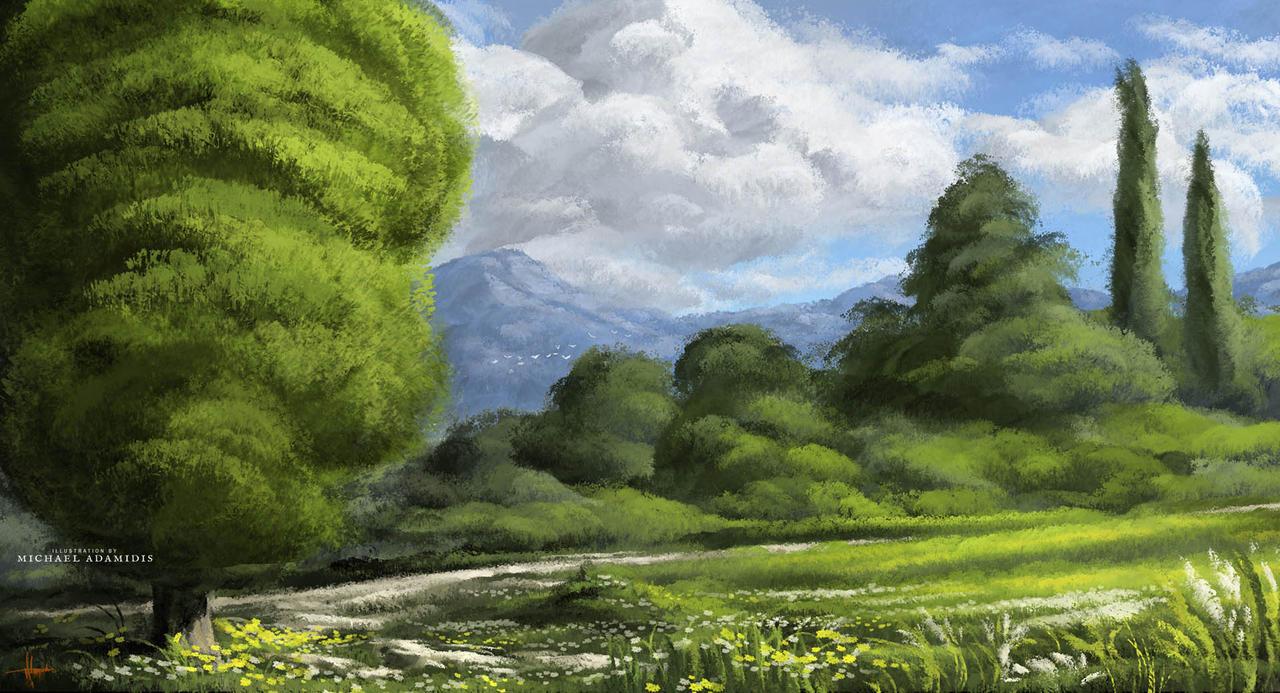 Digital Art Landscape Painting Scenery Concept Art