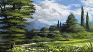 Digital Art Landscape Painting Scenery  Art