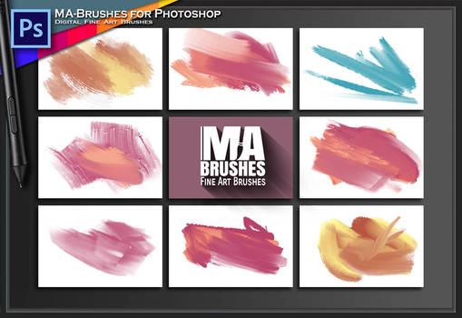 MaxRealistic Photoshop OIL Brush PACK MA-BRUSHES