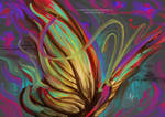 Butterfly - Digital Oil Painting Art Artwork