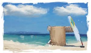 Summer Wallpaper Digital ART Painting M. Adamidis