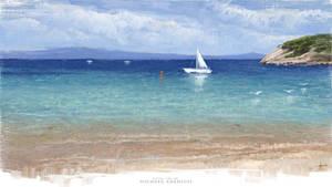 Greak SEA - Digital OIL Painting by M. Adamidis