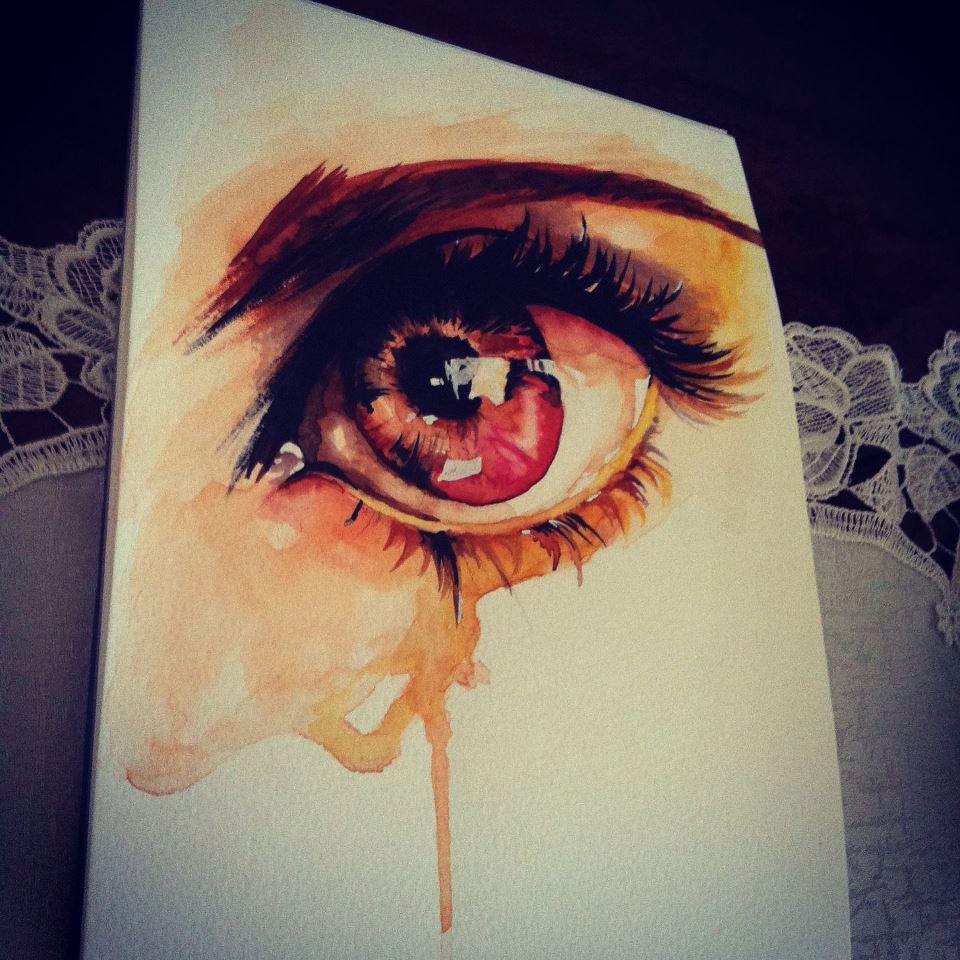 Watercolor Eye by Koizumi-Ayumu by Koizumi-Ayumu
