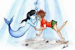 Kiss under the sea