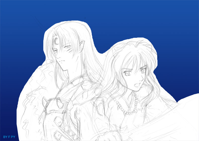 InuYasha-Sketch by acory