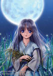 The girl under The Moon