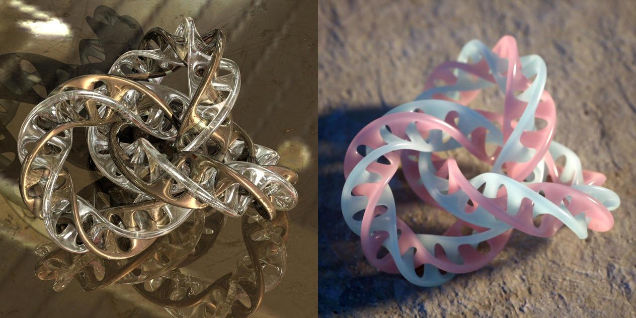 Wings 3D interlocking mobius torus knot recipe by davidbrinnen