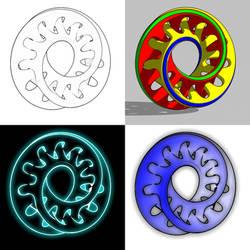 Bryce 7.1 Pro - stylised rendering of mobius strip by davidbrinnen