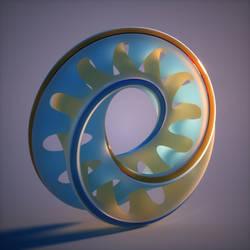 Octane render of a Wings 3D object 3 by davidbrinnen
