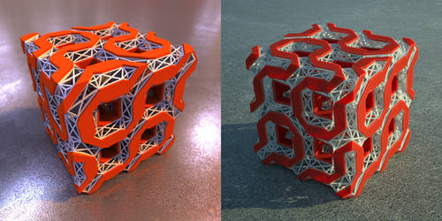Twisted cube with scaffolding1 tut by davidbrinnen