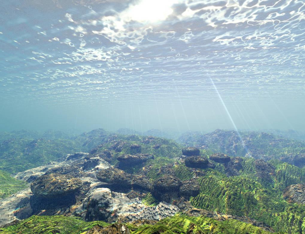 Bryce underwater render by davidbrinnen