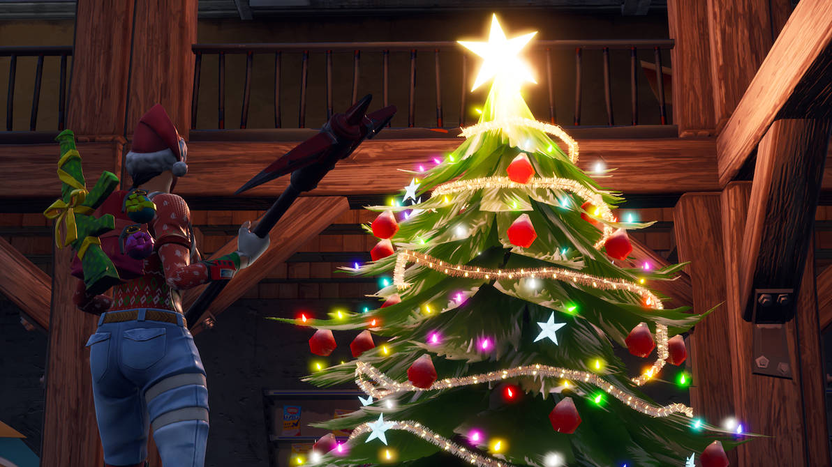 Fortnite Christmas Tree Background.Decorated Christmas Trees Fortnite Best Tree In The Forest