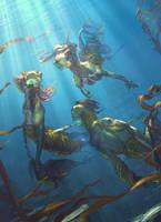 ImagineFX - mermaid people by telpenar