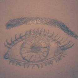 Practiced drawing a human eye!