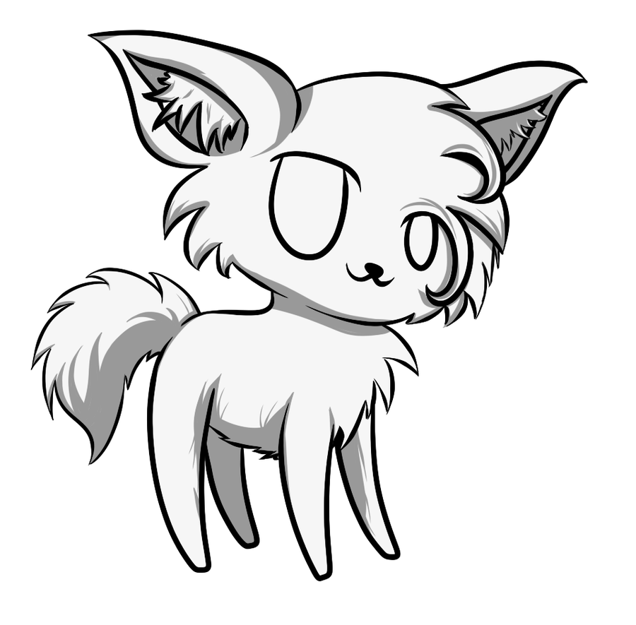 cute wolf base by angrycheddar on DeviantArt Angry Black Wolf Drawing