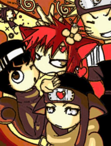 Chibi Naruto Characters By LiliNeko68
