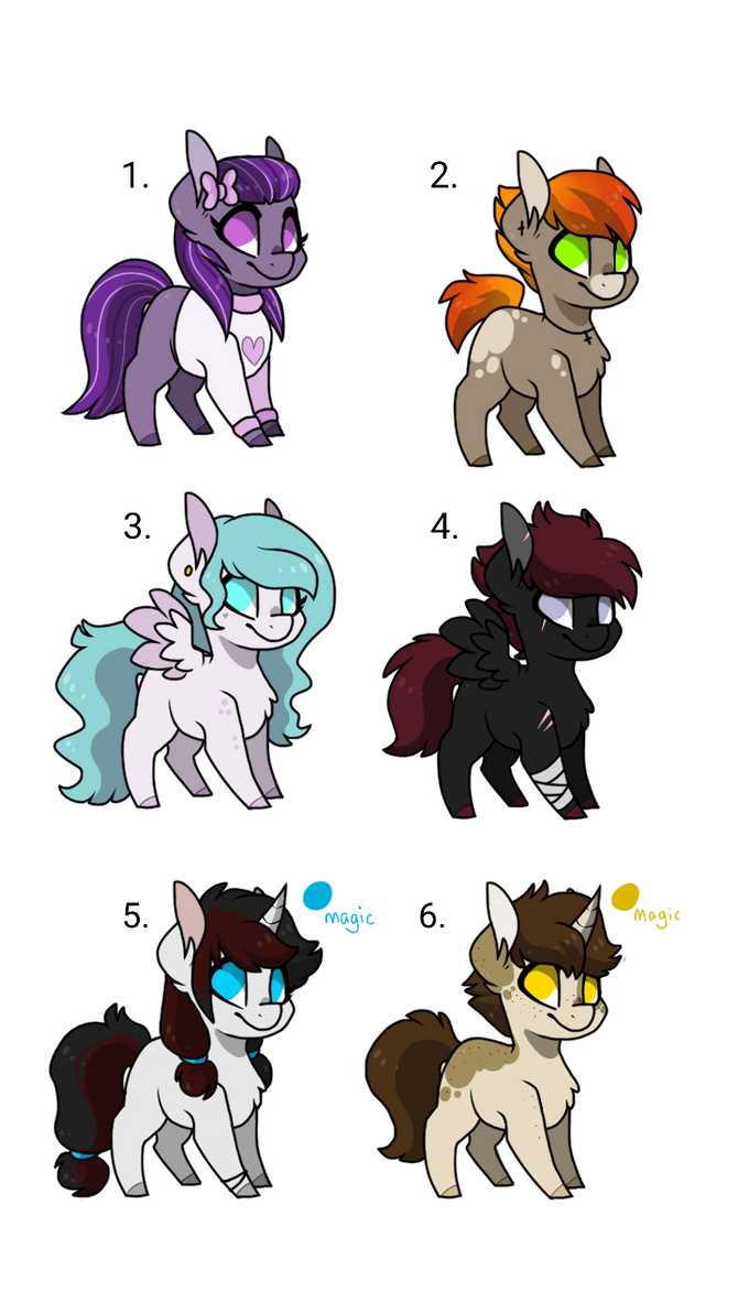 MLP Adoptables - CLOSED- by MissHoneyBunn