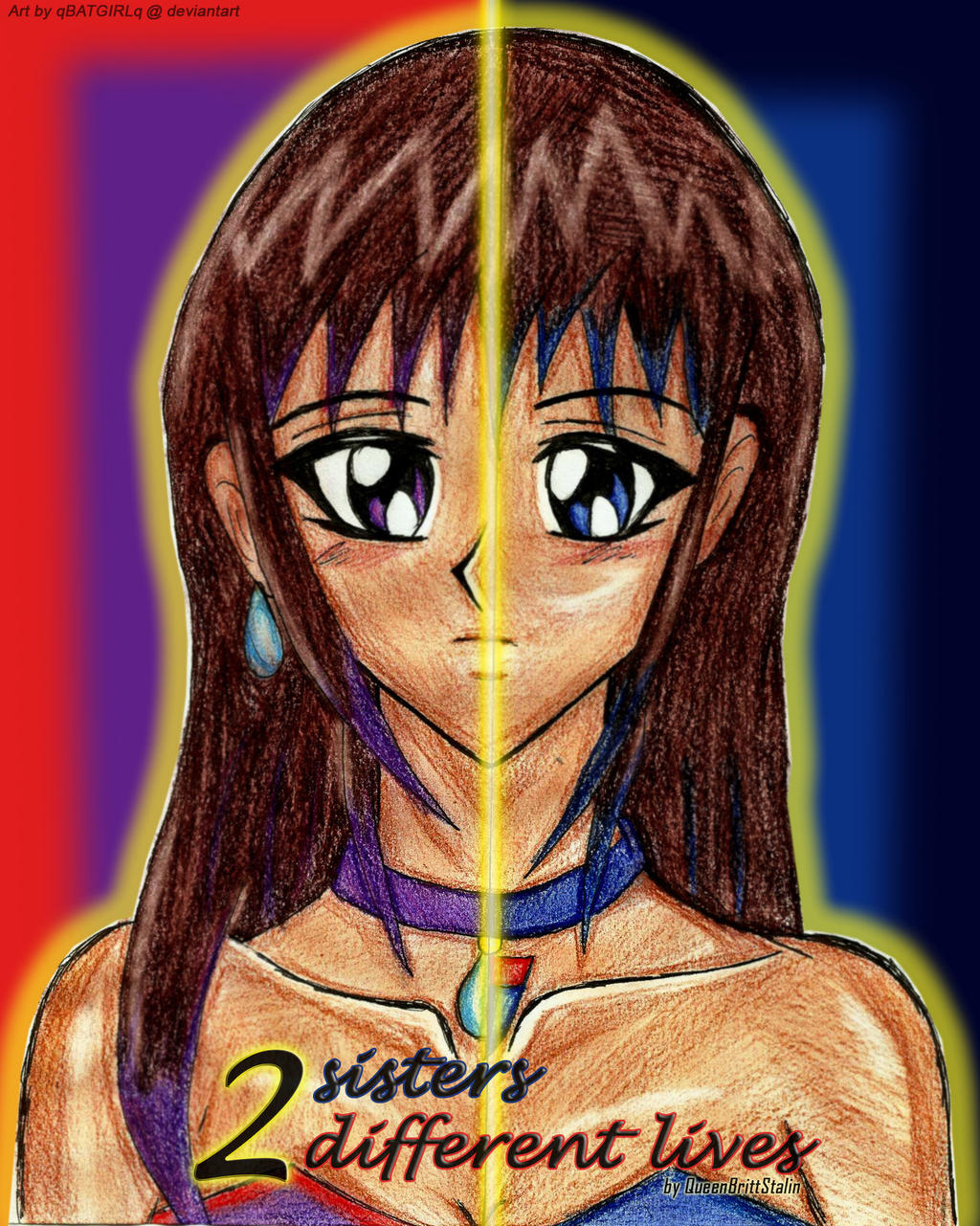 2 sisters, 2 different lives - cover - by qBATGIRLq