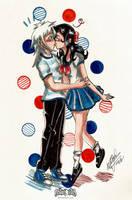 Surprise Kiss! by qBATGIRLq