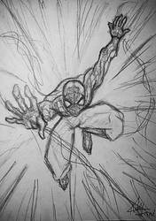 Spidey in action by qBATGIRLq