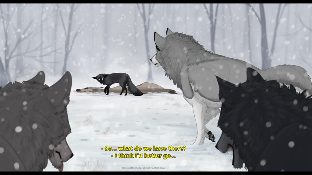 Meeting big wolves by NatalieDeCorsair
