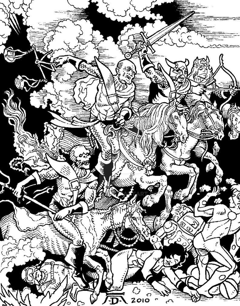 Albrecht Durer Super Battle by JeffDee