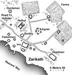 Zarikath Village Map