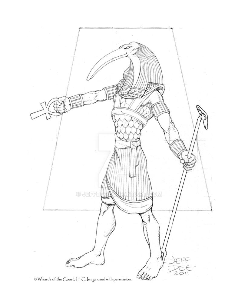 New Thoth Pencil Art by JeffDee