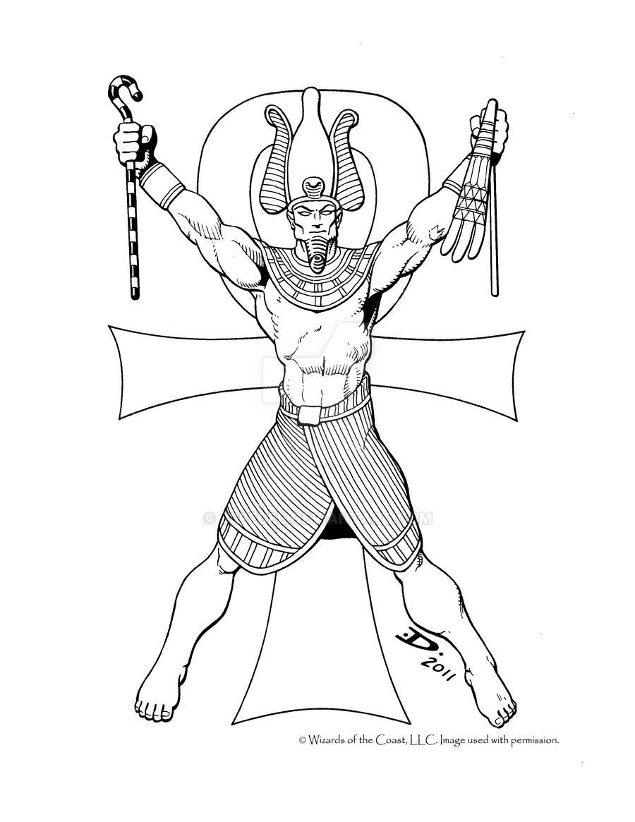 egyptian sacofphagus how to draw