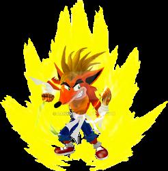 Crash Bandicoot Super Saiyan