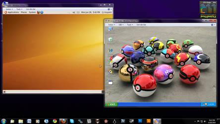 Ubuntu and XP on Windows 7 by metagrith
