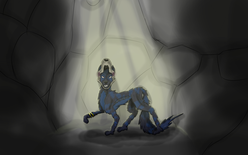 Cave of Daku ~Commission~ by Tiraserphina