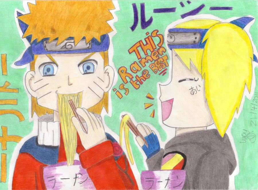 naruto eating ramen coloring pages - photo#28
