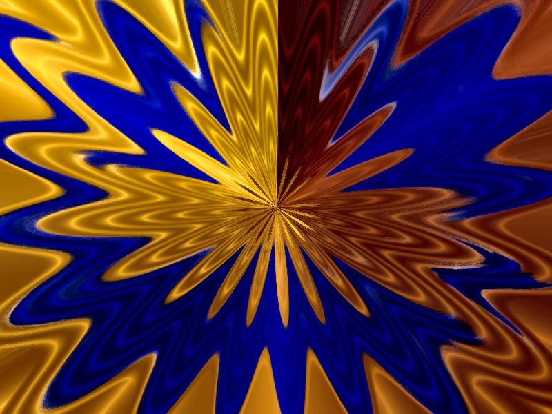 wierd blue gold wallpaper by mastercylinder on deviantart
