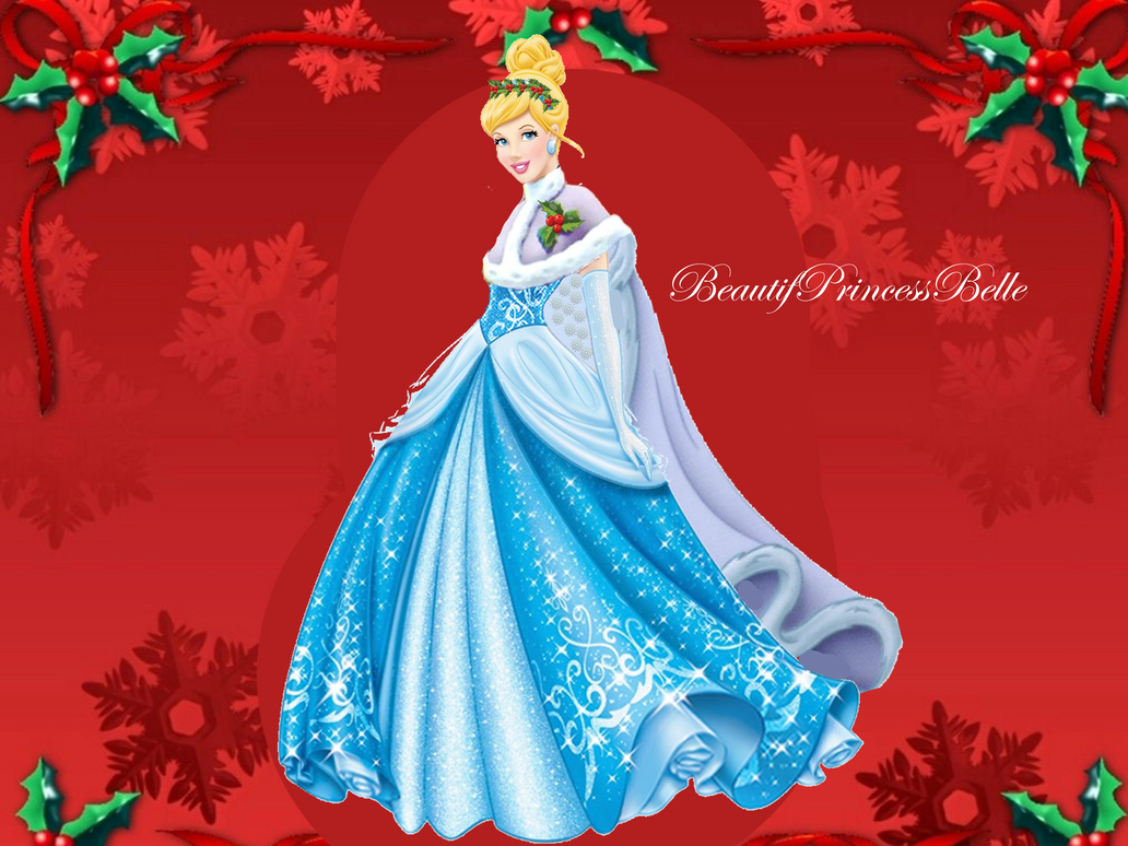 Cinderella Christmas.Disney Princess Christmas High Resolution Disney Princess