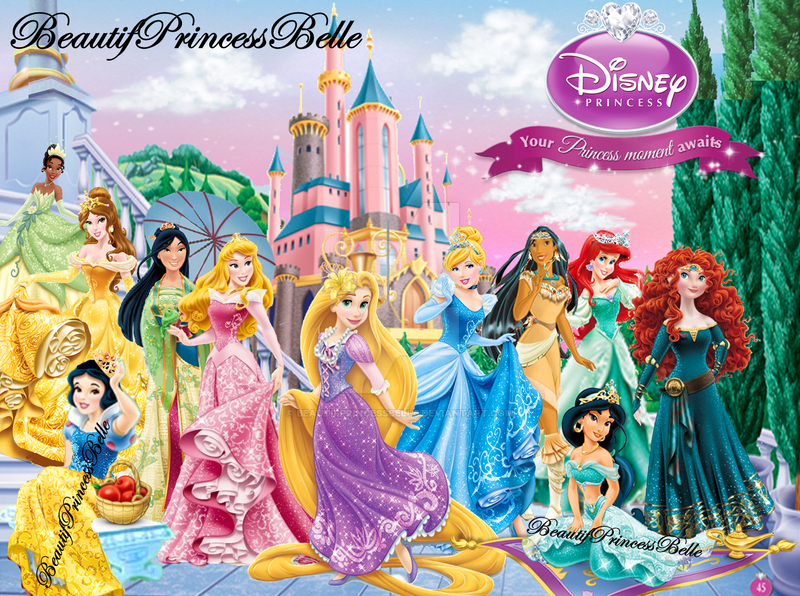 Disney Princesses Beautiful Evening By