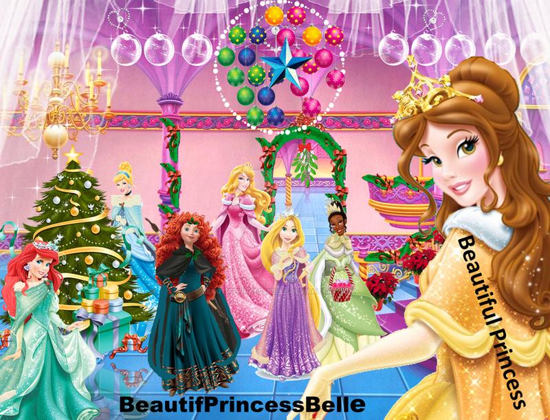 disney princesses merry christmas 2013 by