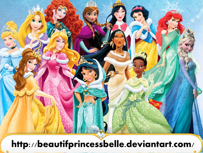 disney princesses merry christmas 2014 by beautifprincessbelle